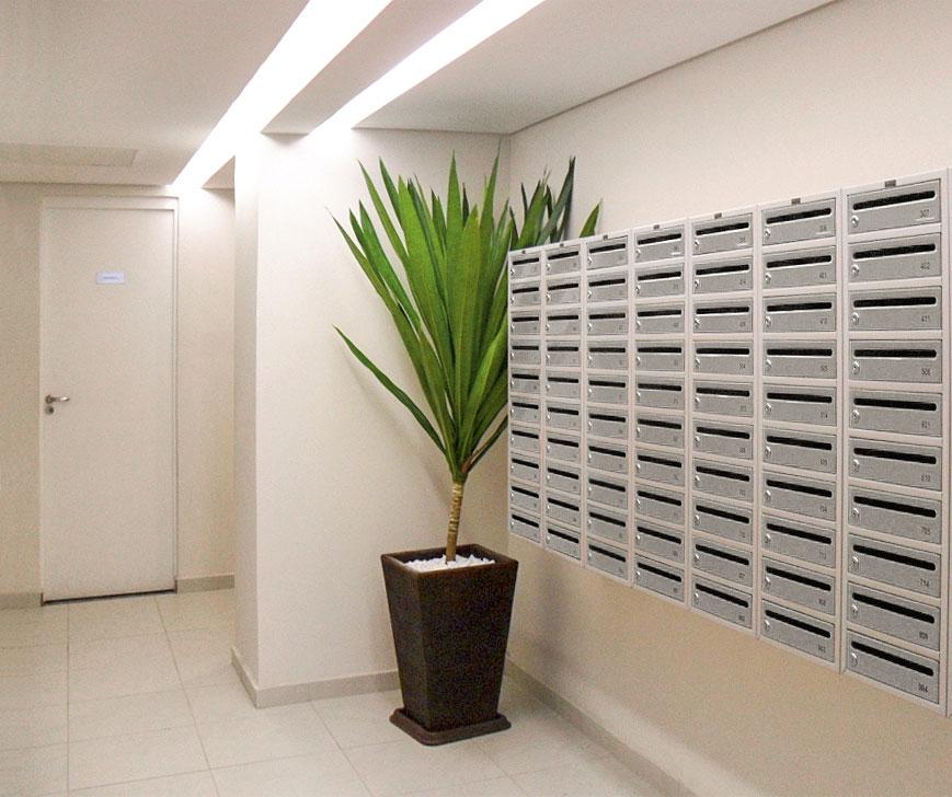 caixa de correio para condominio instalada